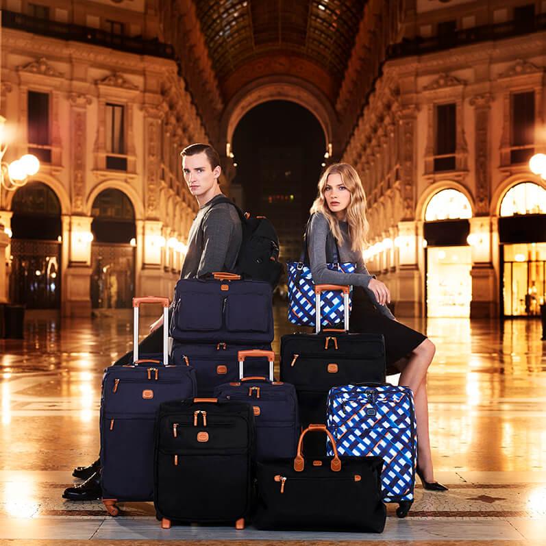 Weichgäck wie Reisetaschen mit Leder-Details: Klassiker von Bric's.