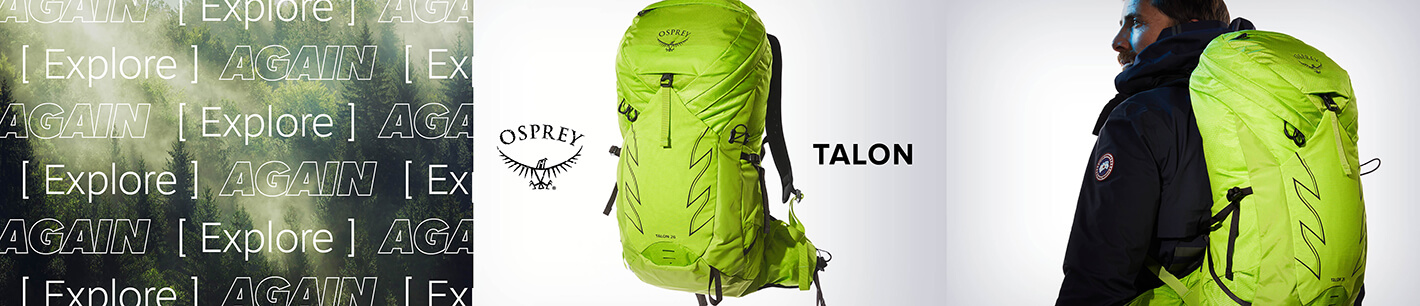 Für Ihr Abenteuer die richtige Outdoor-Ausrüstung finden - mit Osprey.
