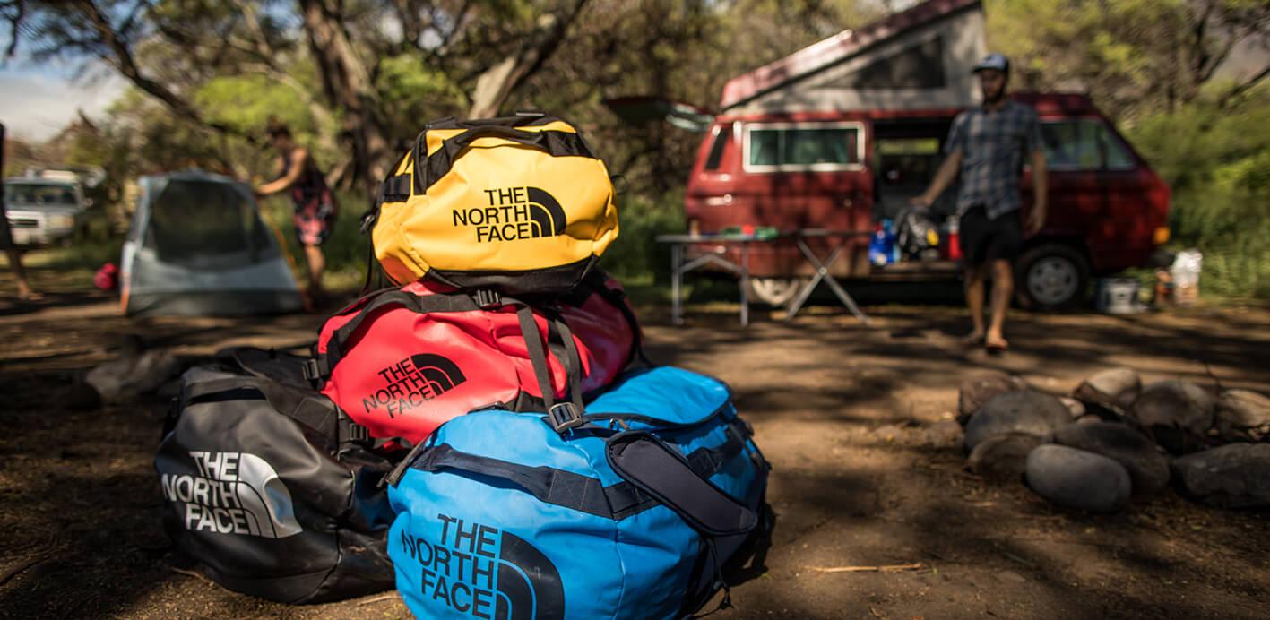 Camping: Gepäck wie Reisetaschen und Rucksäcke sind besonders geeignet