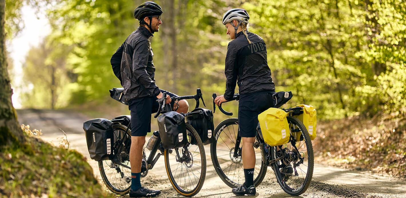 Fahrradtaschen und Rucksäcke von Thule: die perfekten Begleiter für jeden Tag.