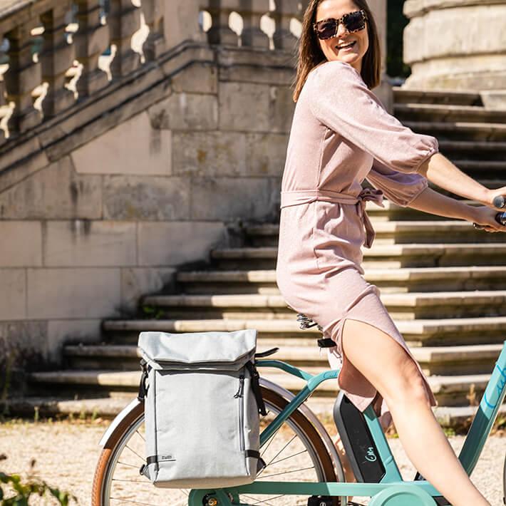 Als Fahrradtasche oder Rucksack kombinierbar: Zwei Olli Cycle