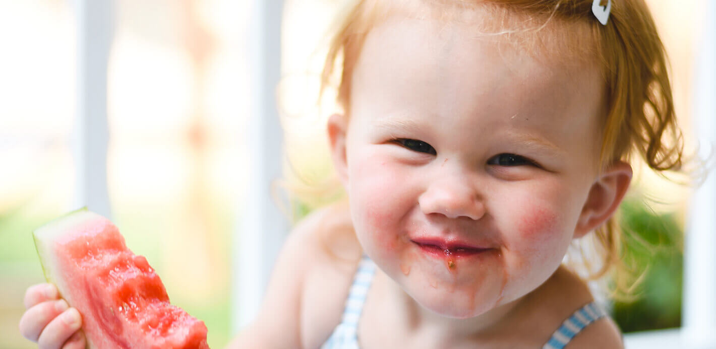 Beliebter Snack für Kinder Melone: als Reisesnack lieber auf weniger Saftiges setzen.