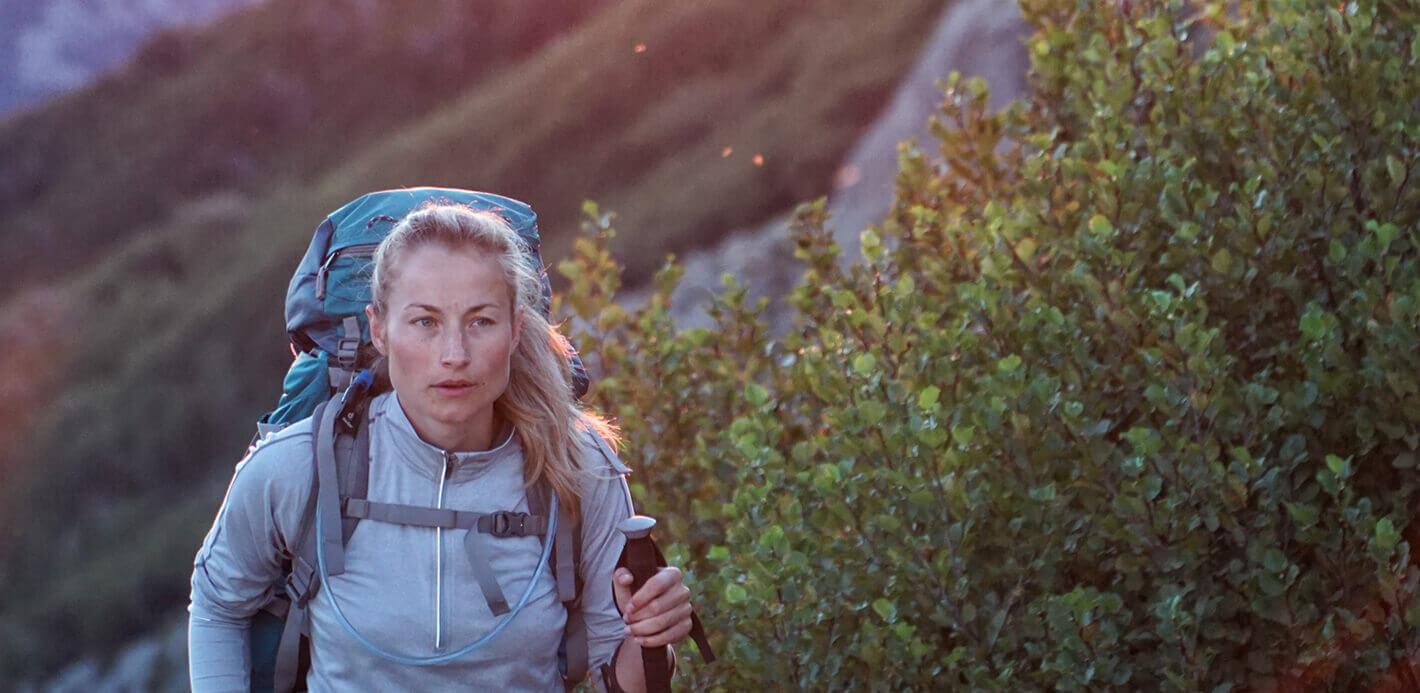 Sport trifft Natur: unterwegs in den Bergen.