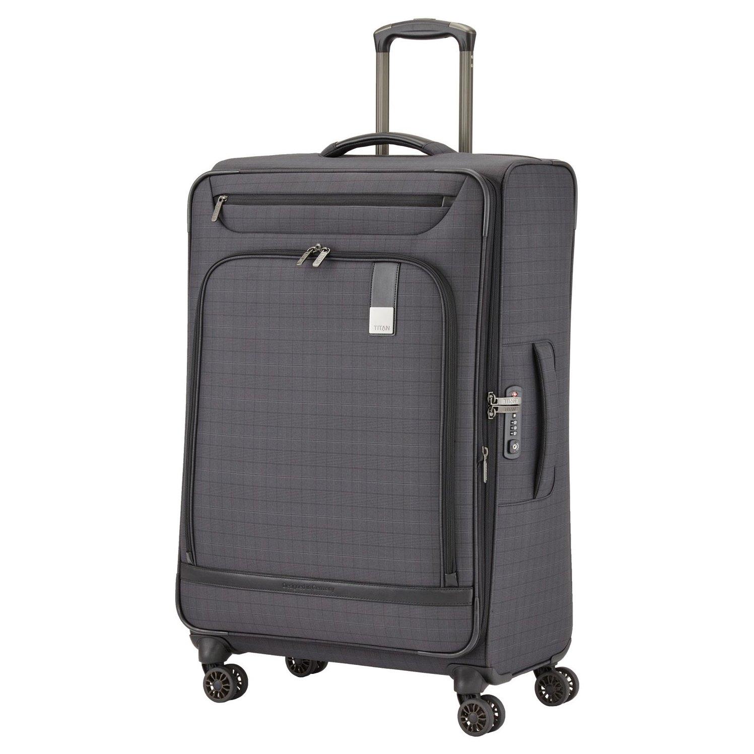 titan ceo 4 rollen trolley m 68 cm erweiterbar kaufen bei markenkoffer. Black Bedroom Furniture Sets. Home Design Ideas