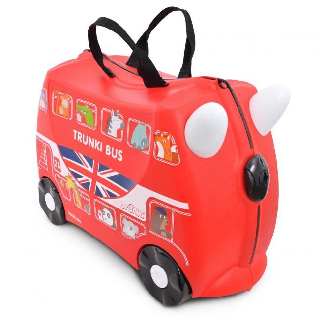 trunki Ride-On Koffer befahrbarer Kindertrolley 46 cm - Bus Boris