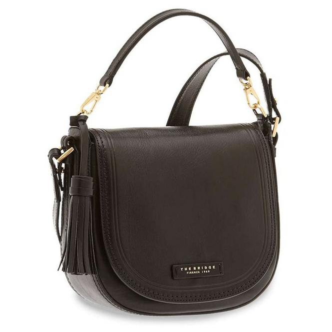 The Bridge Pearldistrict Damenhandtasche Rindleder 23.5 cm - nero oro