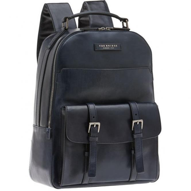 The Bridge Byron Rucksack Rindleder 38 cm - nero