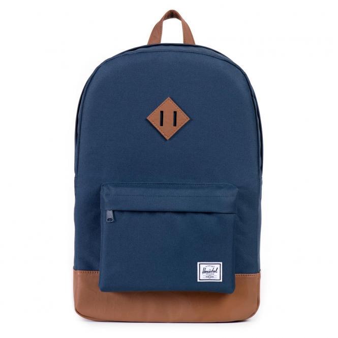 Herschel Heritage Backpack Rucksack 45 cm - navy/tan synthetic leather
