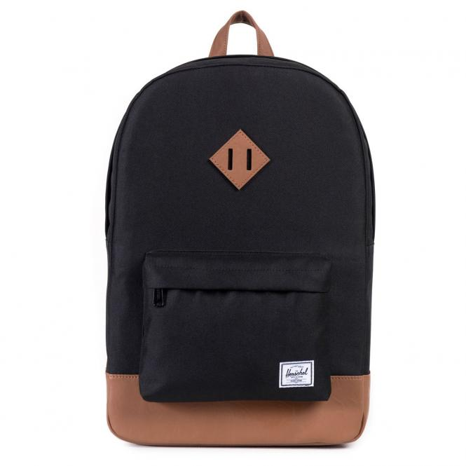 Herschel Heritage Backpack Rucksack 45 cm - black/tan synthetic leather