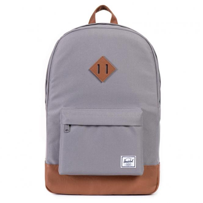 Herschel Heritage Backpack 45 cm - grey/tan synthetic leather