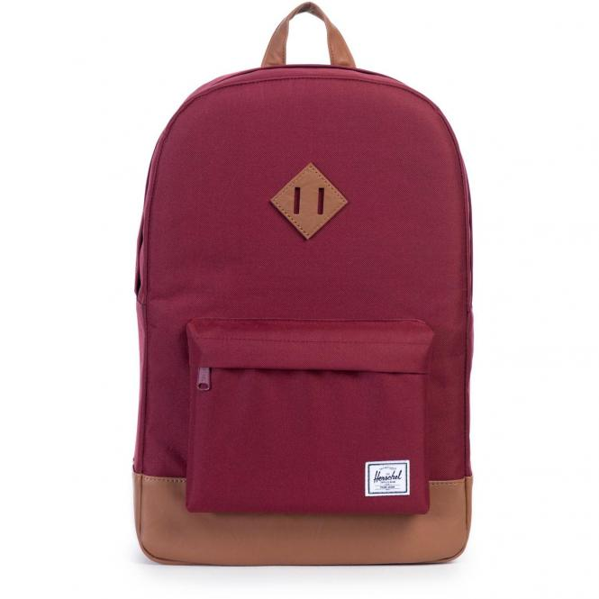 Herschel Heritage Backpack 45 cm - windsor wine/tan synthrtic leather