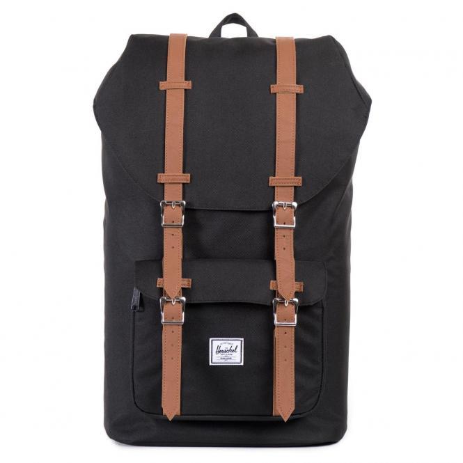 Herschel Little America Backpack Rucksack 49.5 cm - black/tan