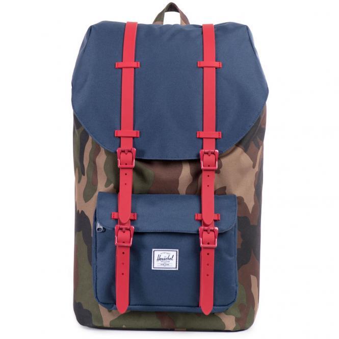 Herschel Little America Backpack Rucksack 49.5 cm - camo/navy/red rubber