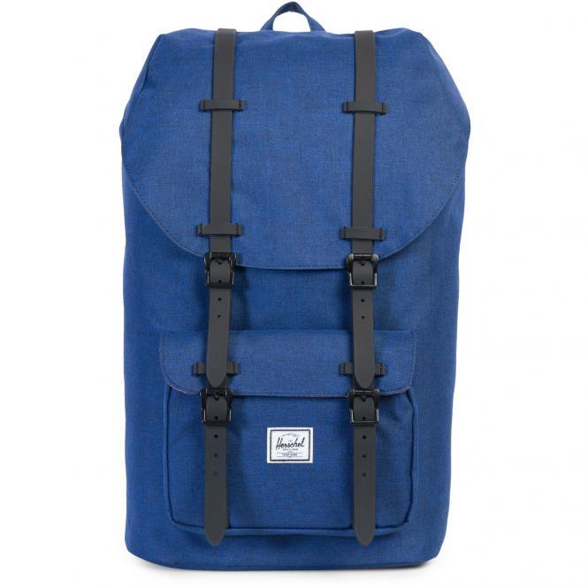 Herschel Little America Backpack Rucksack 49.5 cm - eclipse crosshatch/black rubber
