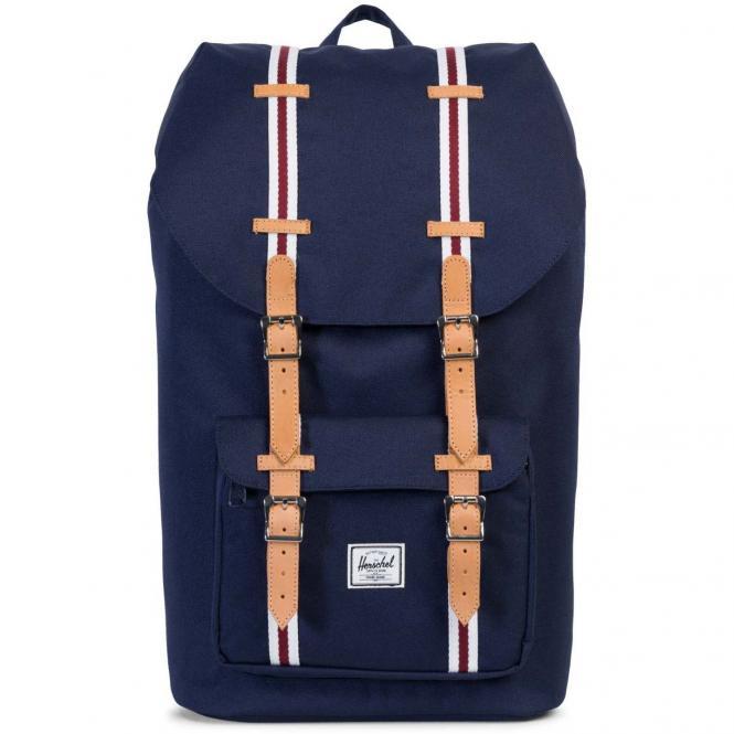 Herschel Little America Backpack Rucksack 49.5 cm - backpack peacoat/white/windsor wine/veggie