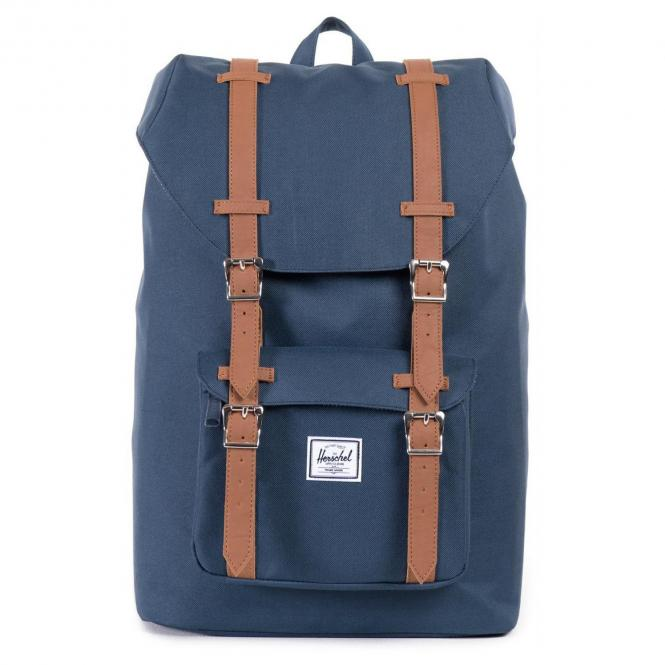 Herschel Little America Mid-Volume Backpack Rucksack 40.5 cm - navy/tan synthetic leather
