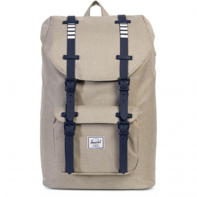 Herschel Little America Mid-Volume Backpack Rucksack 40.5 cm - light khaki crosshatch/peacoat