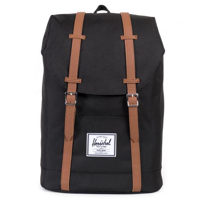 Herschel Retreat Backpack Rucksack 43 cm - black/tan synthetic leather