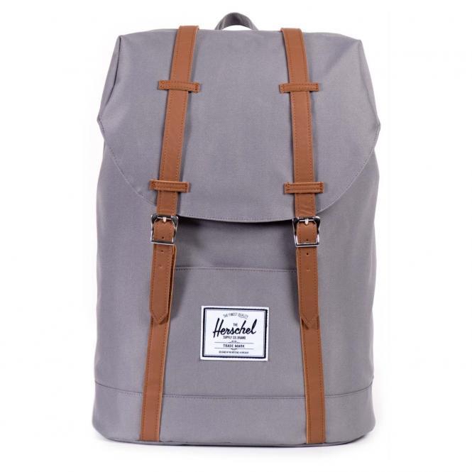 Herschel Retreat Backpack Rucksack 43 cm - grey/tan synthetic leather