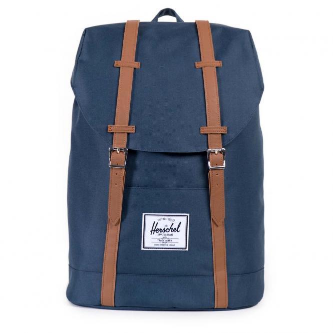 Herschel Retreat Backpack Rucksack 43 cm - navy/tan synthetic leather