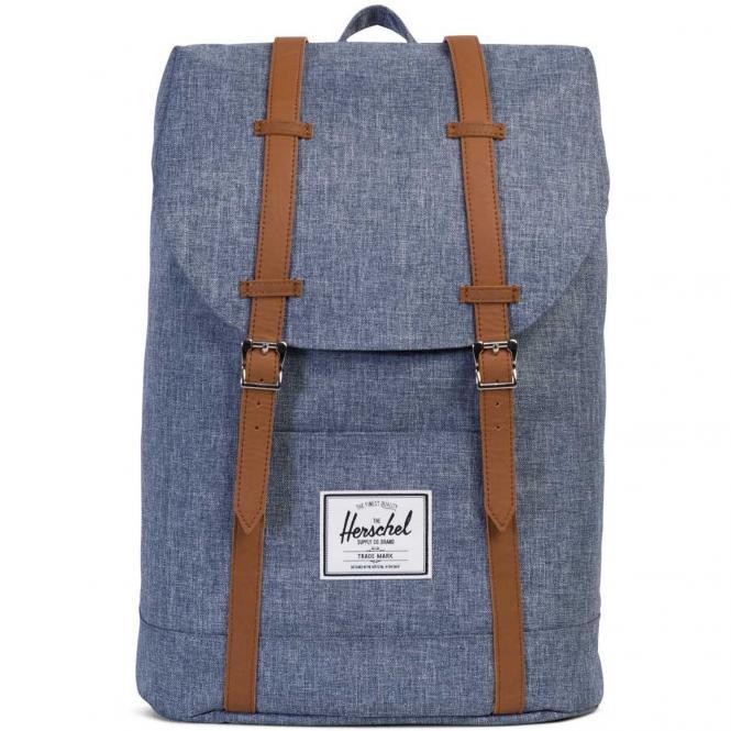 Herschel Retreat Backpack Rucksack 43 cm - dark chambray crosshatch/tan