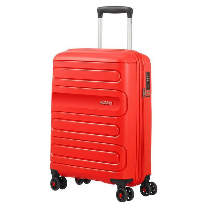American Tourister Sunside 4-Rollen-Kabinentrolley 55 cm - sunset red