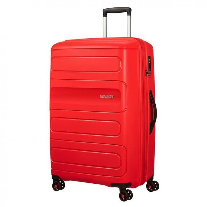 American Tourister Sunside 4-Rollen-Trolley 77 cm - sunset red