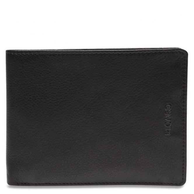 Picard Brooklyn Herrengeldbörse Querformat 13 cm - schwarz