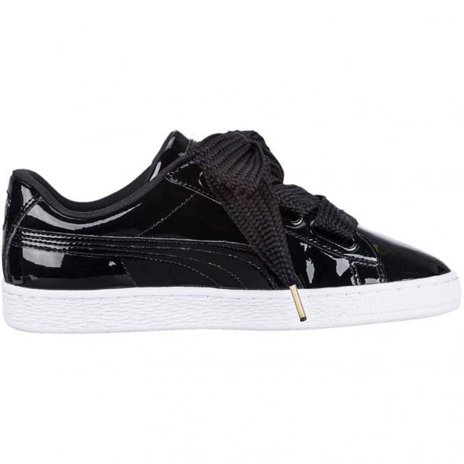 Puma Basket Heart Patent Damen Sneaker Schuh 363073 - 38  puma black-puma-black