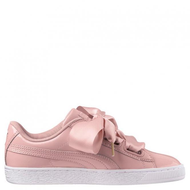 Puma Basket Heart Patent Damen Sneaker Schuh 363073 - 40,5  peach beige/peach beige