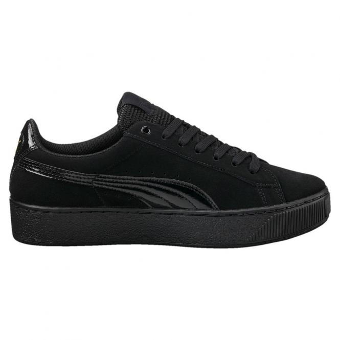 Puma Damen Sneaker Vikky Platform Schuh 363287 - 38 1/2  puma black-puma black