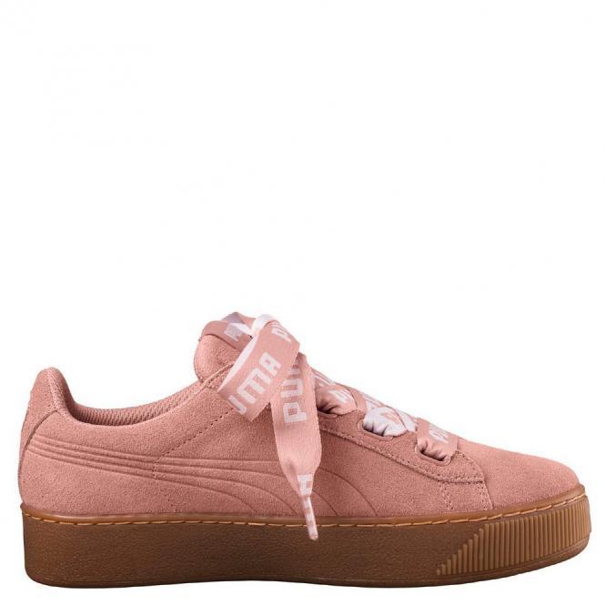 Puma Womens Vikky Platform Ribbon Bold Schuh 365314 - 41  peach beige/peach beige