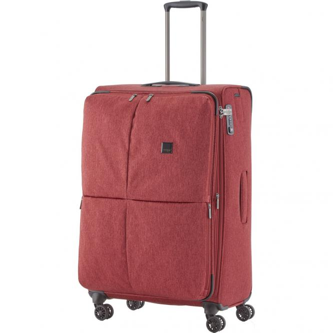 Titan Square L 4-Rollen-Trolley 78 cm erweiterbar - rot