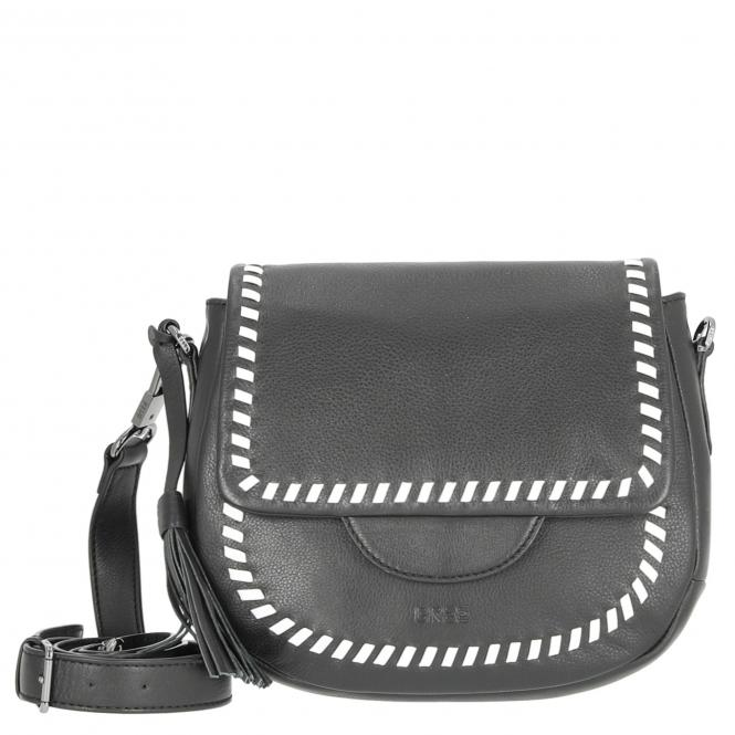Bree Kano 2 Umhängetasche 24.5 cm - black/white braiding*