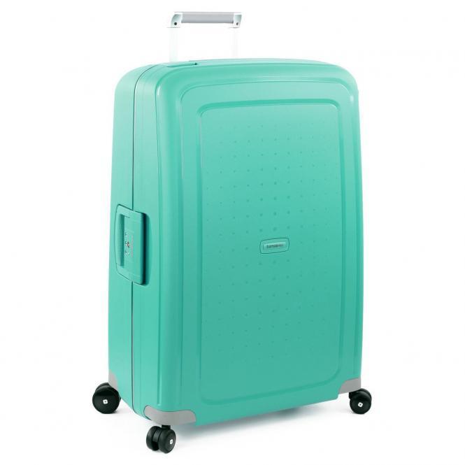 Samsonite S Cure Spinner 4-Rollen-Trolley 81 cm - aqua blue