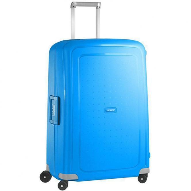 Samsonite S Cure Spinner 4-Rollen-Trolley 75 cm - pacific blue