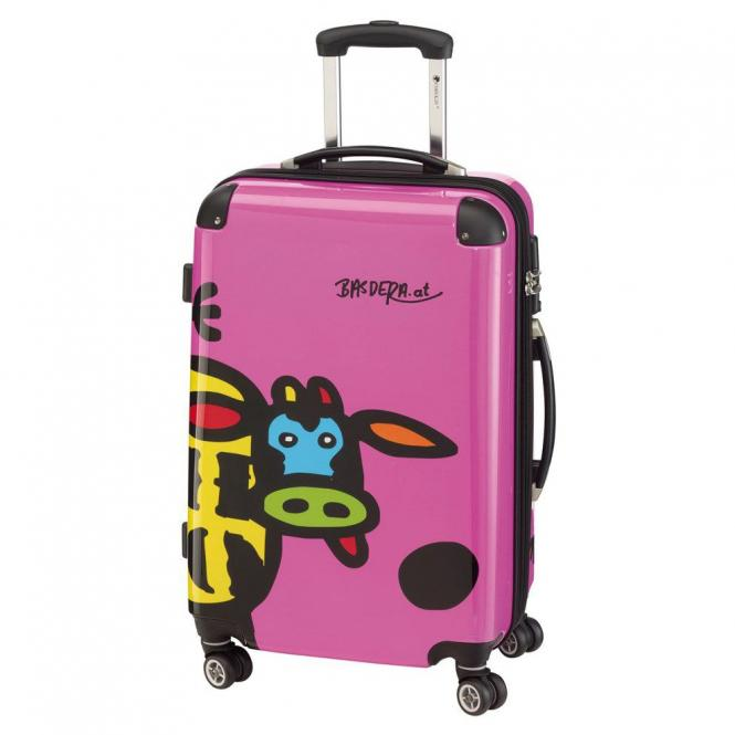Check In Kuh Family 4-Rollen-Trolley L 66 cm - ...