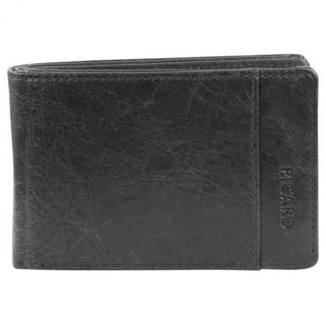 Picard Buddy 1 small Ledergeldbörse Herren 10,5 cm - schwarz
