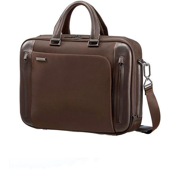 """Samsonite Business Tech Bailhandle Businesstasche S 15.6"""" - dark brown"""