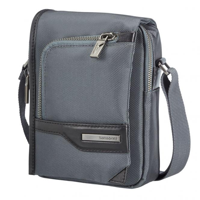 """Samsonite GT-Supreme Tablet Crossover / Umhängetasche 7""""+Flap - grey/black"""