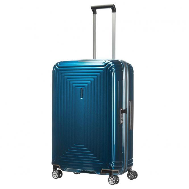 Samsonite Neopulse 4-Rollen-Trolley 69 cm - metallic blue