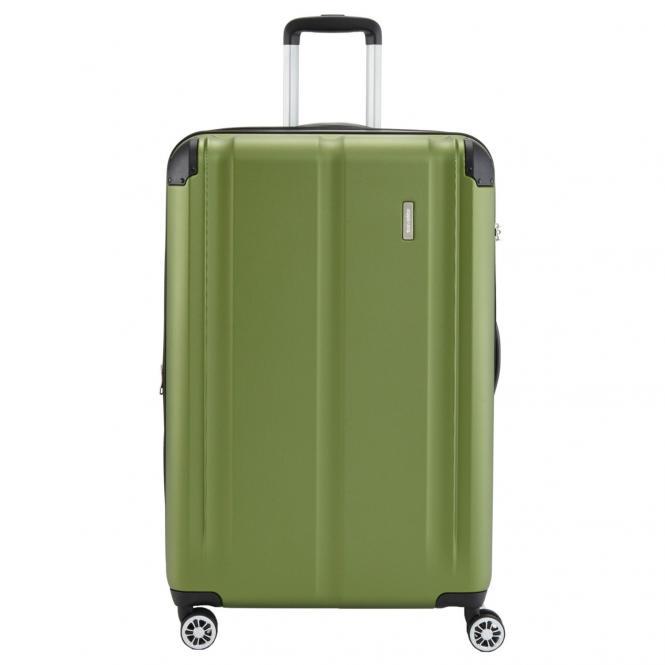 Travelite City 4-Rollen-Trolley erweiterbar M 68 cm - grün