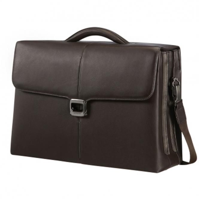 "Samsonite Sygnum Briefcase 2 Gussets Aktentasche 15.6"" - dark brown"