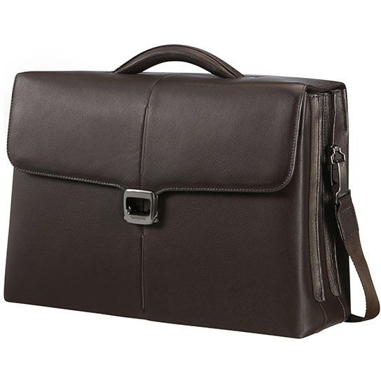 "Samsonite Sygnum Briefcase 3 Gussets Aktentasche 15.6"" - dark brown"