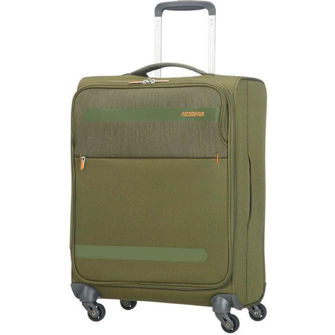 American Tourister Herolite Lifestyle 4-Rollen-Kabinentrolley 55 cm - khaki