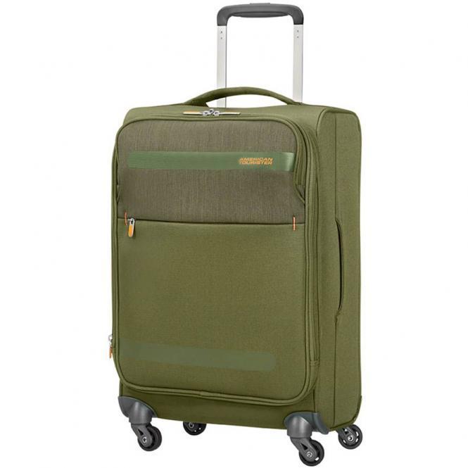 American Tourister Herolite Lifestyle 4-Rollen-Kabinentrolley 55 cm erweiterbar - khaki