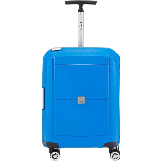 Titan Mono 4-Rollen Kabinentrolley S 55 cm - blue