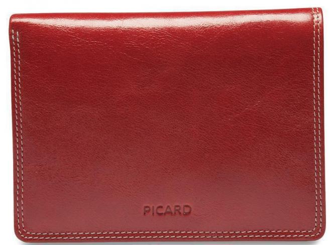 Picard Porto Damenledergeldbörse hochformat 13 cm - rot