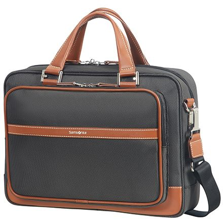 "Samsonite Fairbrook Bailhandle 14.1"" - black cognac"