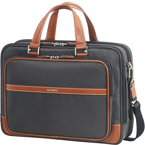 "Samsonite Fairbrook Bailhandle 15.6"" - black cognac"